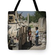 Afghan Children Ask U.s. Soldiers Tote Bag
