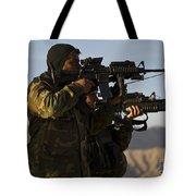 Afghan National Army Commandos Aim Tote Bag