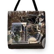 Afghan National Army Soldiers Prepare Tote Bag