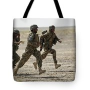 Afghan National Army Soldiers Run Tote Bag