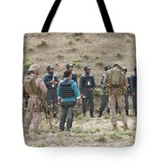 Afghan Police Students Listen To U.s Tote Bag