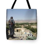 Afghan Policeman Standing Tote Bag