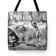 Africa: Ape Hunting Tote Bag