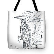 African Rural Woman Tote Bag