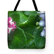 African Violets Intertwined I Tote Bag