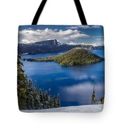 Afternoon Clearing At Crater Lake Tote Bag