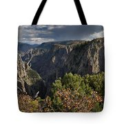 Afternoon Clouds Over Black Canyon Of The Gunnison Tote Bag