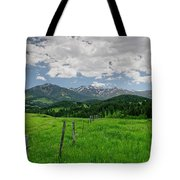 Afternoon Clouds Over The Crazy's Tote Bag