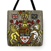 Aged And Cracked Canada Coat Of Arms Tote Bag