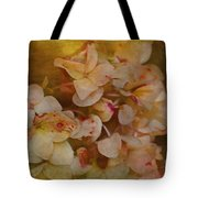 Aged Hydrangeas With Texture Tote Bag