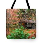 Ahwahnee Cabin Light Tote Bag