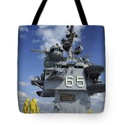 Air Department Sailors Test Tote Bag by Stocktrek Images