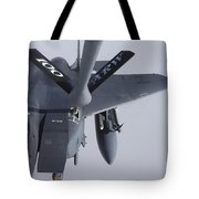 Air Refueling A F-15e Strike Eagle Tote Bag