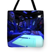 Air Traffic Controller Stands Watch Tote Bag