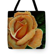 Airbrushed Coral Rose Tote Bag