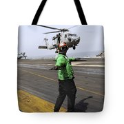 Airman Checks The Takeoff Path Tote Bag