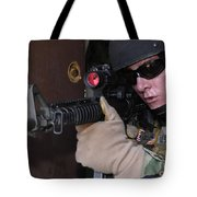 Airman Posts Security At The Front Door Tote Bag