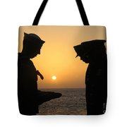 Airman Presents Commanding Officer Tote Bag