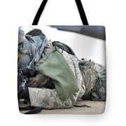 Airman Provides Security At Whiteman Tote Bag by Stocktrek Images
