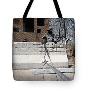 Airman Stands Post To The Entry Control Tote Bag
