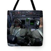 Airmen At Work In A Mc-130h Combat Tote Bag