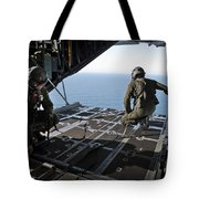 Airmen Wait For The Signal To Deploy Tote Bag