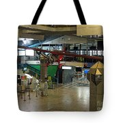 Airport Before The Busy Day. Vilnius. Lithuania. Tote Bag