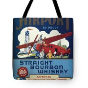 Airport Whiskey Label Tote Bag