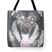 Akita And German Shepherd Mix  Tote Bag