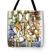 Akko Port Landscape Abstract Blue Green Ocean Water Sun Sky Brown Yellow Colorful City Beach Light Tote Bag