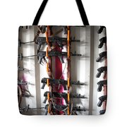 Akm Assault Rifles Lined Up On The Wall Tote Bag