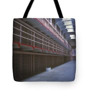 Alcatraz Awaits Tote Bag