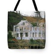Alcatraz Skeleton Tote Bag