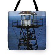 Alcatraz Watch Tower Tote Bag by Paul W Faust -  Impressions of Light