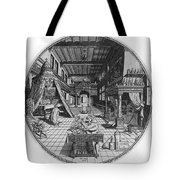 Alchemists Laboratory, 1595 Tote Bag by Science Source