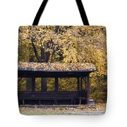 Alcove In The Autumn Park Tote Bag