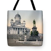 Alexander II Memorial At Senate Square In Helsinki Finland Tote Bag