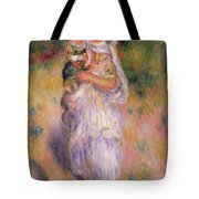 Algerian Woman And Child Tote Bag by Pierre Auguste Renoir