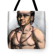 Algonquian Man, 1645 Tote Bag