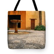 Alhambra Courtyard And Fountain In Spain Tote Bag