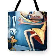 Alice In Yellow Tote Bag by Leanne Wilkes