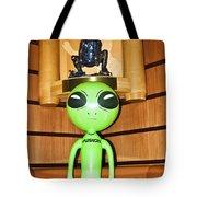 Alien In The Corner Booth Tote Bag
