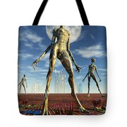 Alien Reptoid Beings Wearing Organic Tote Bag