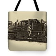 All Aboard Antique Tote Bag