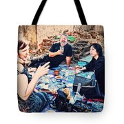 All Saints Day Cemetery Picnic New Orleans Tote Bag