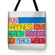 All The Happy Words Tote Bag
