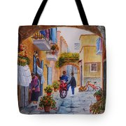 Alley Chat Tote Bag