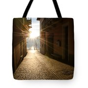 Alley In Backlight  Tote Bag