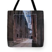 Alley With Fire Escape Layered Tote Bag