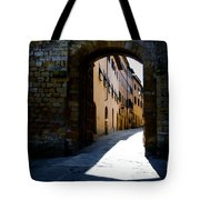 Alley With Sunlight Tote Bag